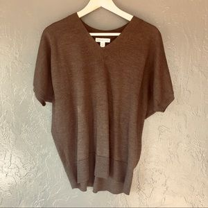 Coldwater Creek Knit Sweater Tunic Brown Blouse XS